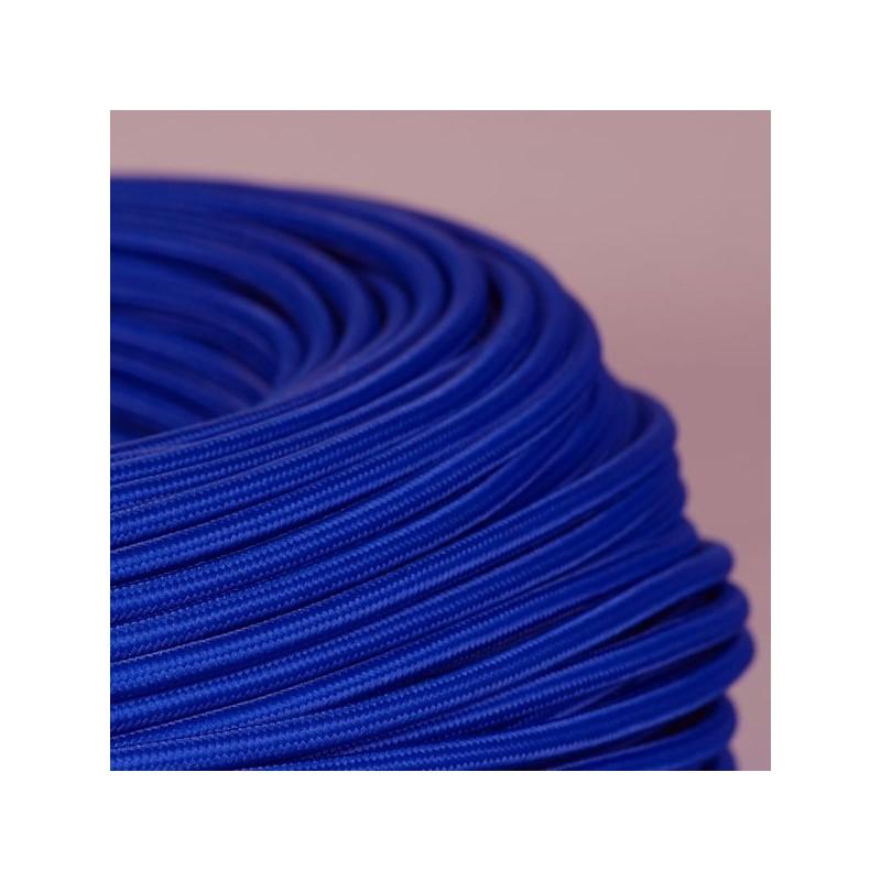 cable textile bleu saphir. Black Bedroom Furniture Sets. Home Design Ideas