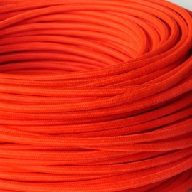 CABLE TEXTILE ORANGE FLUO