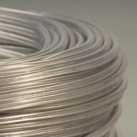 Câble rond transparent 2 x 0,75 + filin - Falbala-luminaires