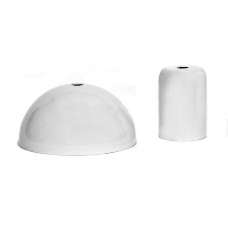 Pavillon et cache-douille blanc-Falbala-luminaires