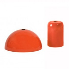 PAVILLON ET CACHE DOUILLE ORANGE