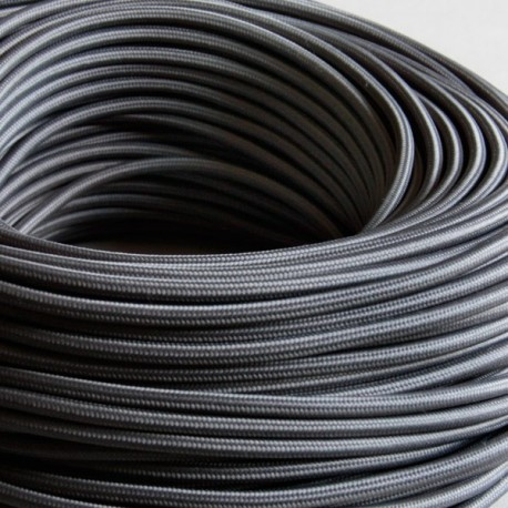 Câble textile ardoise 2x0.75mm² - Falbala-luminaires