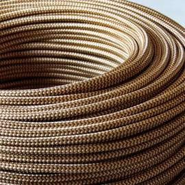 Câble textile tigré abeille - Falbala-luminaires