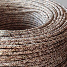 Câble textile chiné l'indien - Falbala-luminaires