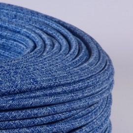 Câble textile chiné océan - Falbala-luminaires