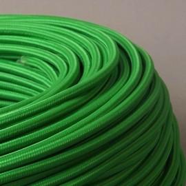 Câble textile vert gazon 2x0.75mm² - Falbala-luminaires