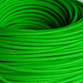 CABLE TEXTILE 3x0.75mm² VERT FLUO