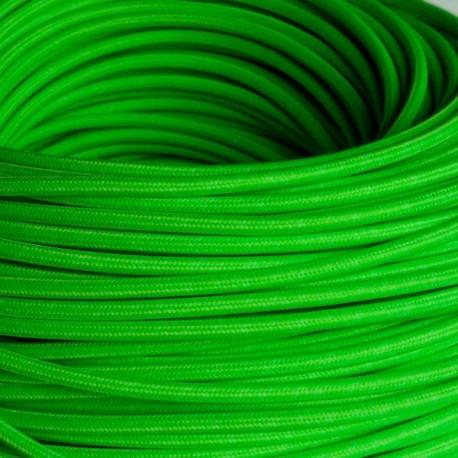 Câble textile vert fluo 3x0.75mm² - Falbala-luminaires