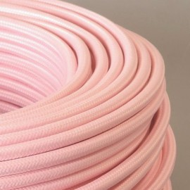 Câble textile rose danseuse 2x0.75mm² - Falbala-luminaires