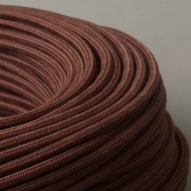 Câble textile coton marron 2x0.75mm² - Falbala-luminaires