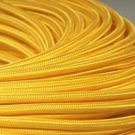 Câble textile jaune maïs 3x0.75mm² - Falbala-luminaires
