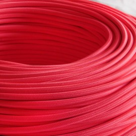CABLE TEXTILE 3x0.75mm² ROSE FLUO