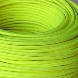 Câble textile 3x0.75mm² jaune fluo