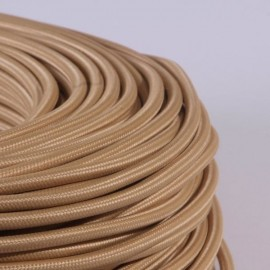 Câble textile camel