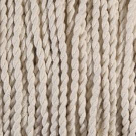 Câble textile torsadé 2x0.75mm² coton blanc - Falbala-luminaires