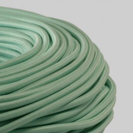 Câble textile menthe 2x0.75mm² - Falbala-luminaires