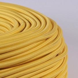 Câble textile jaune polenta 2x0.75mm² - Falbala-luminaires