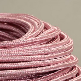 CABLE TEXTILE PAILLETTES ROSE