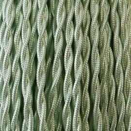 Câble textile torsadé 2x0.75mm² vert d'eau
