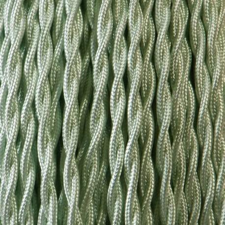 Câble textile torsadé 2x0.75mm² vert d'eau - Falbala-luminaires