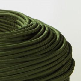 Câble textile vert cyprès-Falbala Luminaires