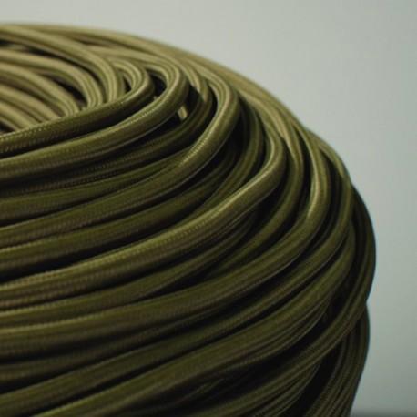 Câble textile vert olive 2x0.75mm² - Falbala-luminaires