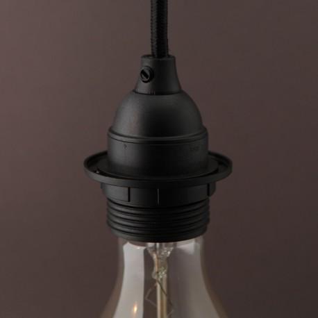 Douille E27 thermoplastique filetée noire - Falbala luminaires