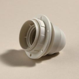 Douille E27 lisse thermoplastique blanche