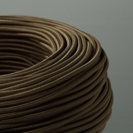 Câble textile vert kaki 2x0.75mm² - Falbala-luminaires