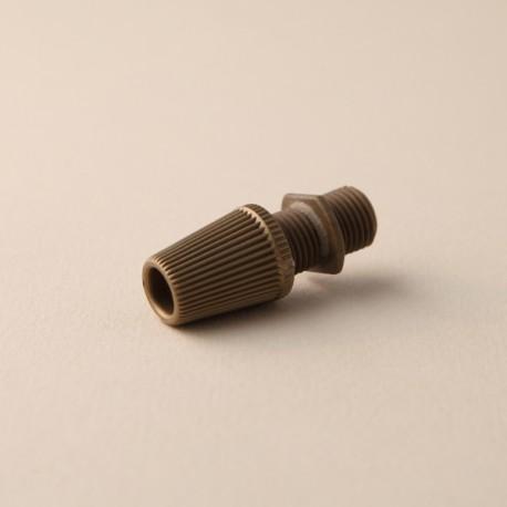 Serre-câble cannelé or - Falbala-luminaires