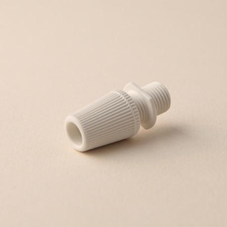 Serre-câble cannelé blanc - Falbala-luminaires