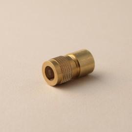 Serre-câble femelle laiton clair