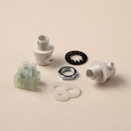 Kit serre-câble blanc - Falbala-luminaires