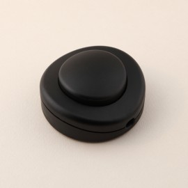 Interrupteur à pied rond noir