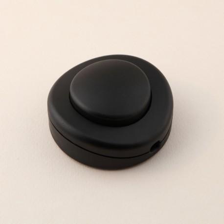 Interrupteur à pied rond noir - Falbala-luminaires