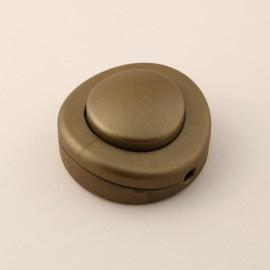 Interrupteur à pied rond or