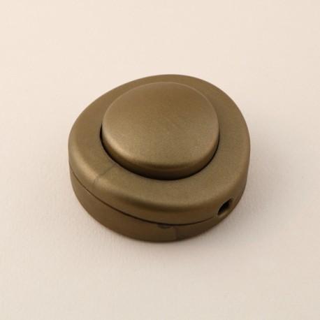 Interrupteur à pied rond or - Falbala-luminaires