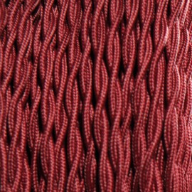 CABLE TEXTILE TORSADE 2X0.75mm² LIE DE VIN