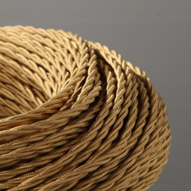 CABLE TEXTILE TORSADE 3X0.50mm² OR