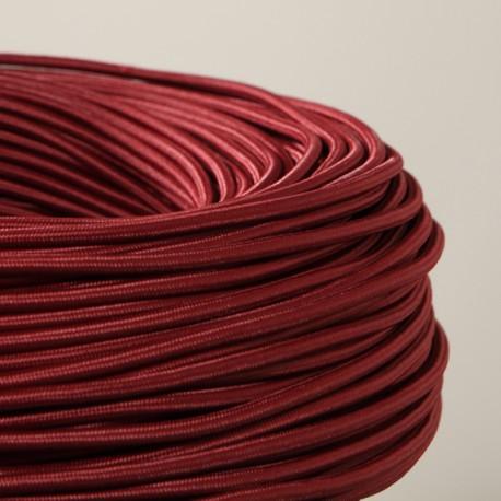 cable textile lie de vin pour deco et design lumiere. Black Bedroom Furniture Sets. Home Design Ideas
