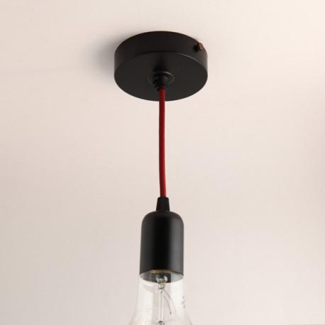 beautiful pavillon plat et cache douille noir with rosace cache fil. Black Bedroom Furniture Sets. Home Design Ideas