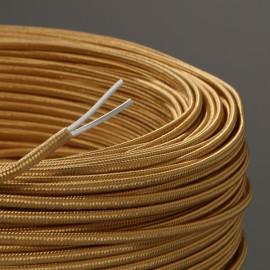 Câble textile plat 2x0.35mm² vieil or