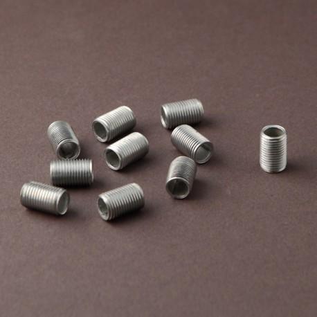 Lot tubulures filetées 10x1 L15mm - Falbala-luminaires