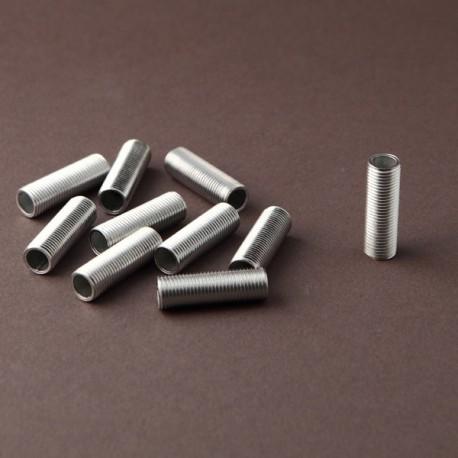 Lot tubulures filetées 10x1 L30mm - Falbala-luminaires