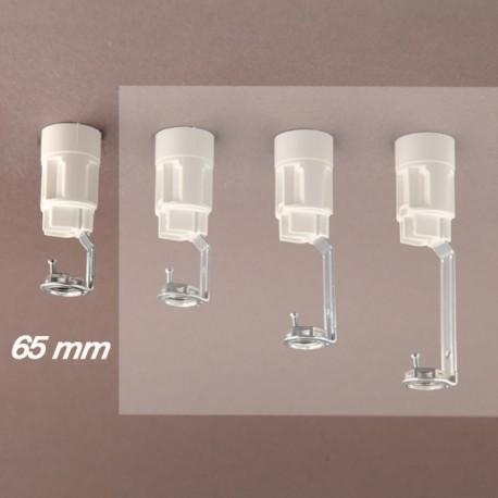 Support bougie E14 blanc d24 - 10x1 - ht 65 - Falbala-luminaires