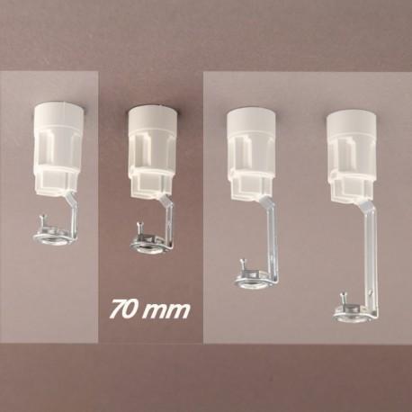 Support bougie E14 blanc d24 - 10x1 - ht 70 - Falbala-luminaires