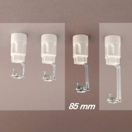 Support bougie E14 blanc d24 - 10x1 - ht 85 - Falbala-luminaires