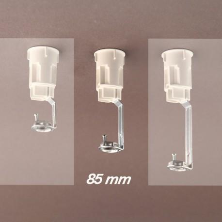 Support bougie E14 blanc d27 - 10x1 - ht 85 - Falbala-luminaires