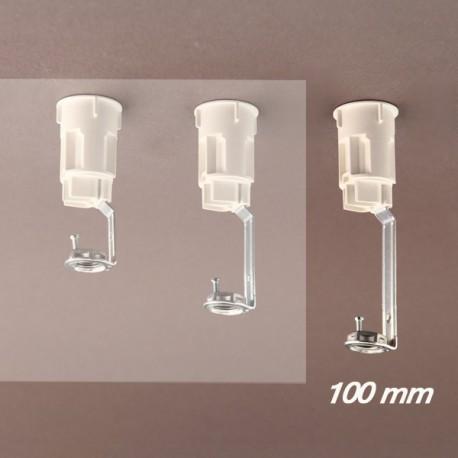 Support bougie E14 blanc d27 - 10x1 - ht 100 - Falbala-luminaires