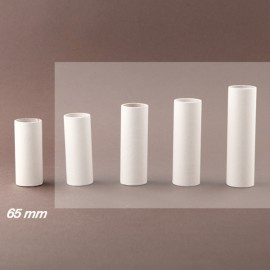 Fourreau - tube de bougie d24 blanc lisse - ht 65 - Falbala-luminaires